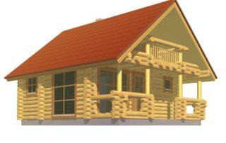 Case in legno in tronchi rotondi, in legno massiccio, in legno lamellare Domus 75