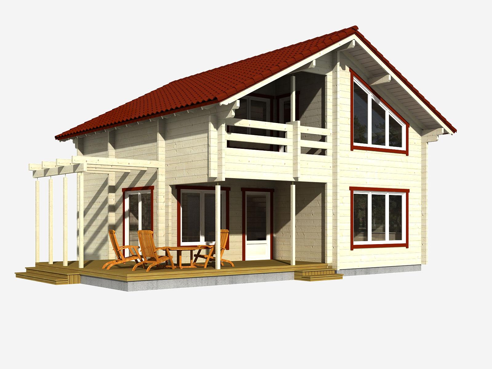 Casa in legno in legno lamellare spessore 88 mm