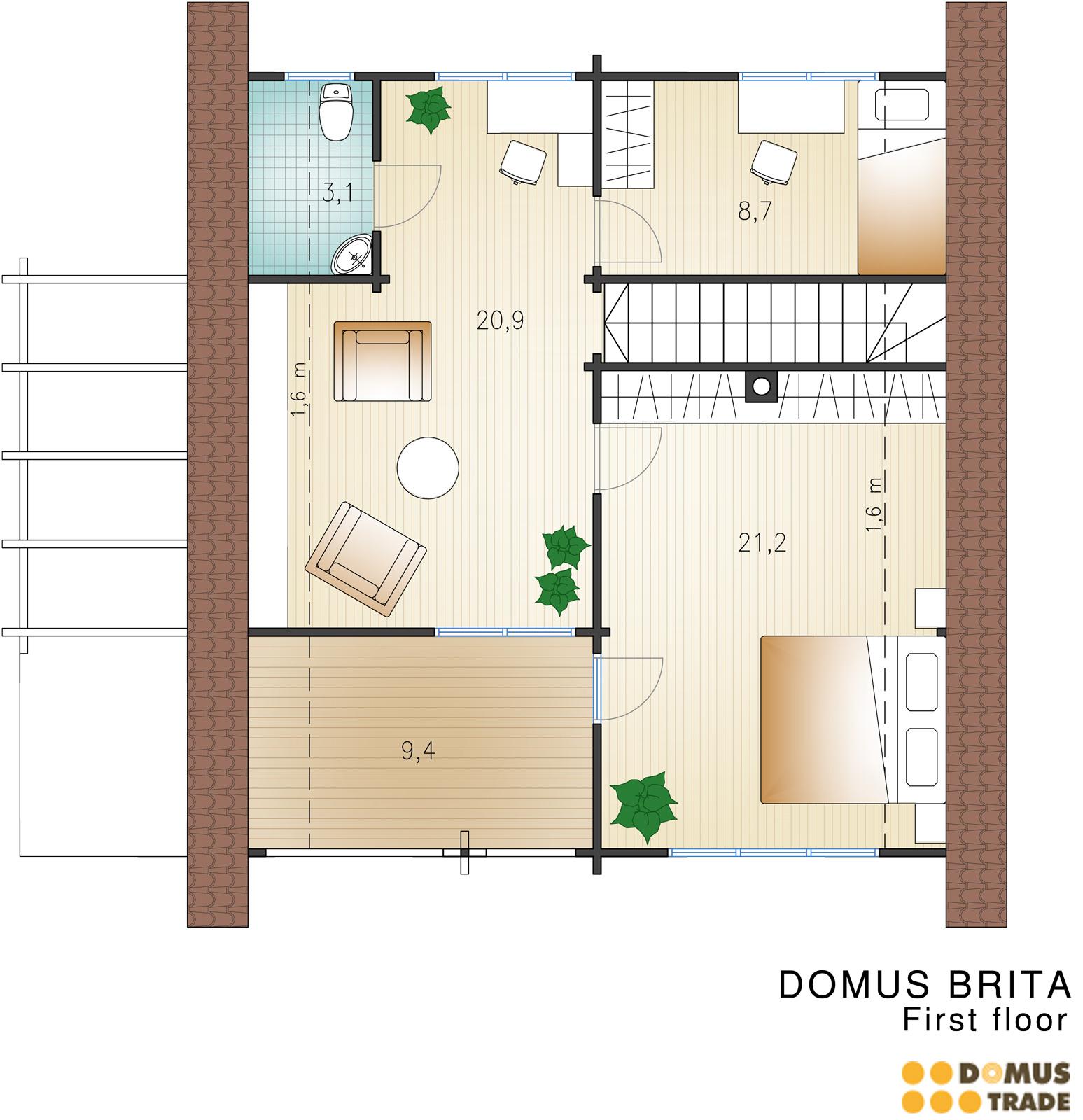 Modelli case prefabbricate in legno for Casa a 1 piano
