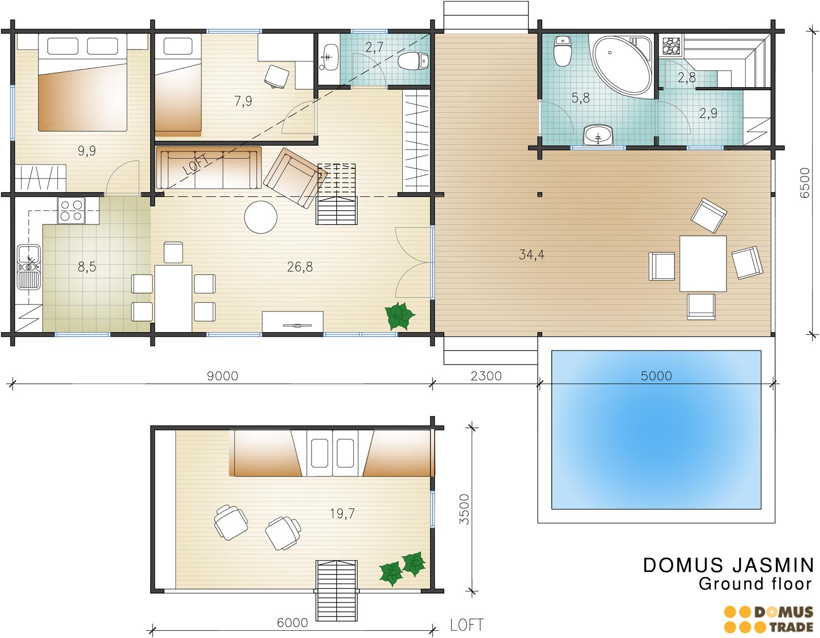 Planimetria Casa Con Misure case in legno modelli – case prefabbricate in legno