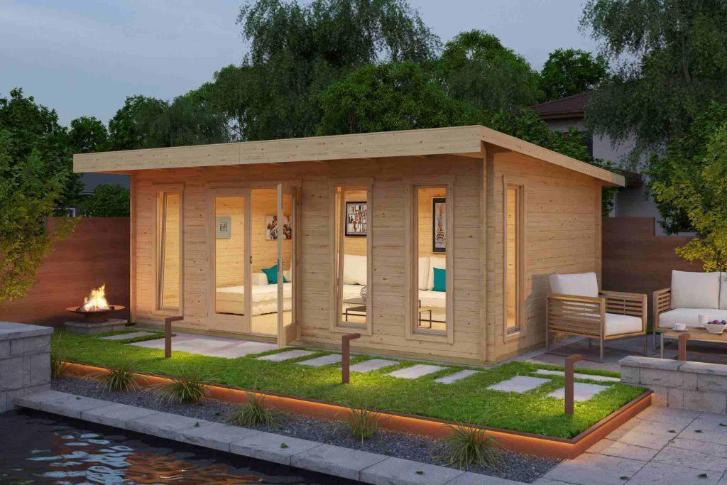 Casetta in legno uso ufficio