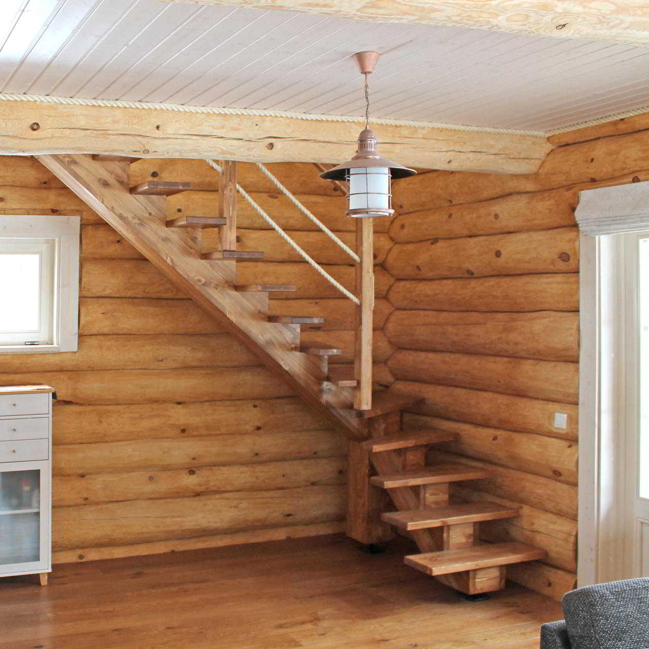 Scale corde chalet in legno